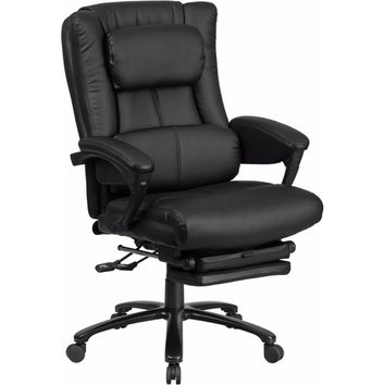 High Back Black Leather Executive Reclining Swivel Office Chair [BT-90527H-GG]