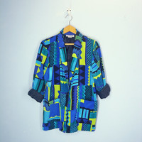 80s Slouchy Jacket / Fresh Prince Jacket / Abstract Bold Blazer /