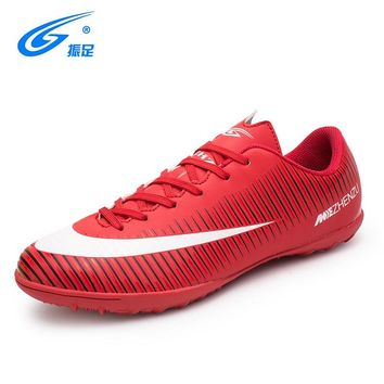 ZHENZU Girls Boy Kids Soccer Shoes Children Sport Sneakers Shoes Football Shoes
