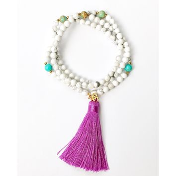 Calming and Healing Tassel Mala Beads Necklace | Mala Beads | Yoga Necklace for Meditation