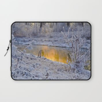It's Gold Outside Laptop Sleeve by Mixed Imagery