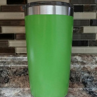 Stainless Steel Green Tumbler/Ozark/RTIC/stainless steel tumblers/Xmas gift/xmas present/YETI/RTIC tumbler/insulated cooler