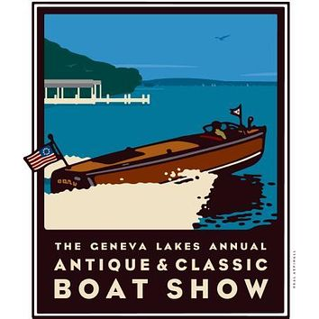 "Geneva Boat Show Poster Great Art 24""x36"""