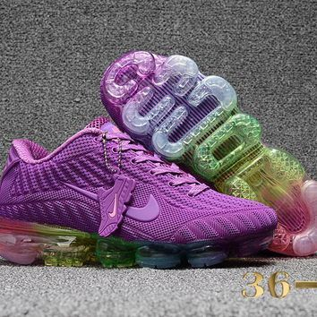 DCCK N350 Nike Air Vapormax 2018 Flyknit Sports Casual Mid Running Shoes Purple