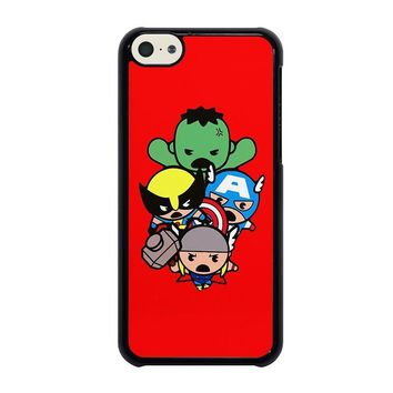 kawaii captain america hulk thor wolverine marvel avengers iphone 5c case cover  number 1
