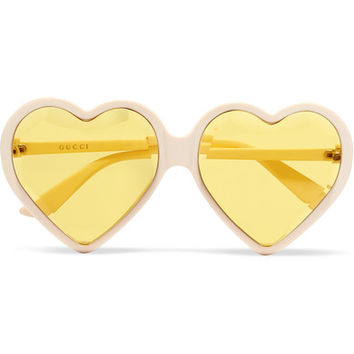 Gucci - Heart-shaped acetate sunglasses