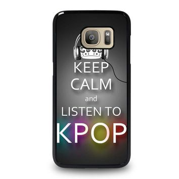keep calm and listen kpop samsung galaxy s7 case cover  number 1
