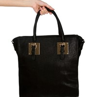 Black Gold Plate Tote