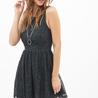 FOREVER 21 Crisscross-Back Lace Dress