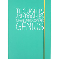 Undiscovered Genius A5 notebook