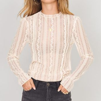 All About That Lace Knit Top