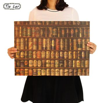 Beer Encyclopedia of Graphic Evolutionary History Bar Kitchen Retro Wall Poster
