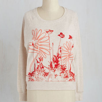 Quirky Short Length Long Sleeve Sweatshirt Dance to Your Own Bloom Sweatshirt