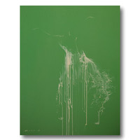 Green Wall Art Dancer Print on Canvas Art Poster of original painting by Yuri Pysar