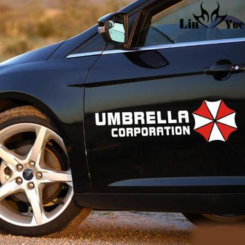 Glass sticker Resident Evil Umbrella corporrtion Car Stickers Eyebrow Sports Styling Auto Racing Decor Decoration Die Cut Decals