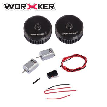 Worker ABS Modified Power Type Straight Grained Flywheel Wheel(matching to flat flywheel cage) 132 Motor Set for Nerf STF/CS-18