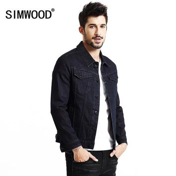 Trendy SIMWOOD jacket men 2018 New Autumn  Winter denim jacket men fashion jeans jacket casual outerwear Coats Brand Clothing NJ6523 AT_94_13