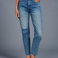 Free People Levi's Wedgie Icon Patched Jeans