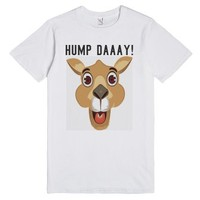 It's Hump Day white tee t shirt-Unisex White T-Shirt