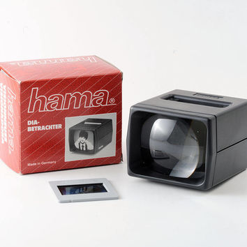 Vintage Hama Slide Viewer Boxed and Working 2.5x Lens Magnification