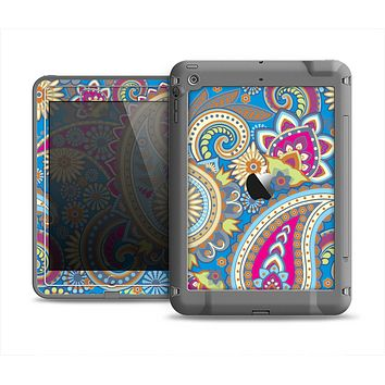 The Blue & Pink Layered Paisley Pattern V3 Apple iPad Mini LifeProof Fre Case Skin Set