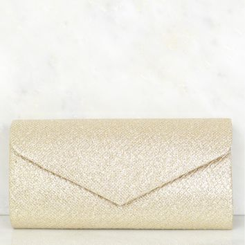 Detailed Clutch Gold