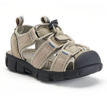 Jumping Beans Toddler Boys' Sport Sandals (Beige/Khaki)