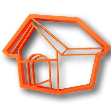 Dog House Cookie Cutter - Pet House , Bird House Cookie Cutter
