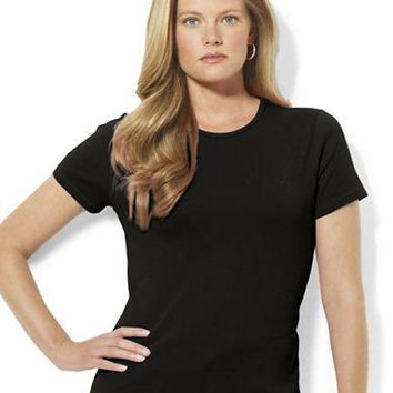 Lauren Ralph Lauren Plus Short-Sleeved Crewneck T-Shirt