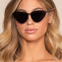 Ain't Kitten Around Sunglasses - Black