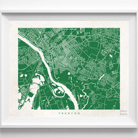 New Jersey, Trenton, Print, Map, NJ, Poster, State, City, Street Map, Art, Decor, Town, Illustration, Room, Wall Art, Customize