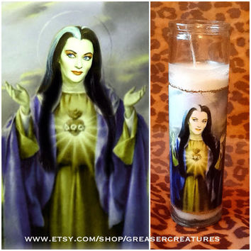 Saint Lily Munster Prayer Candle