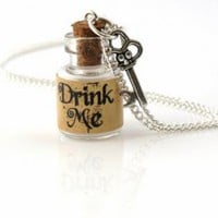 Multi Pendant - Vintage Inspired Mini Bottle Necklace | UsTrendy