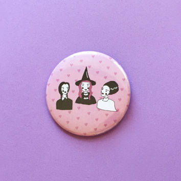"Spooky Babes - 2.25"" Button Pin Badge"