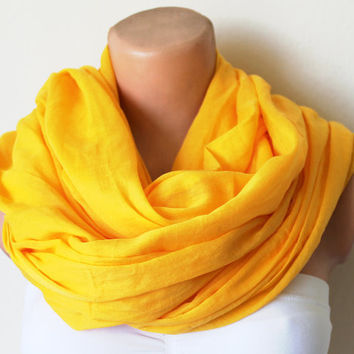 Mustard Yellow Infinity Scarf Soft and Lightweight by fairstore