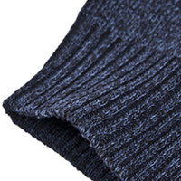 Navy Striped Knitted Zippered Sweater