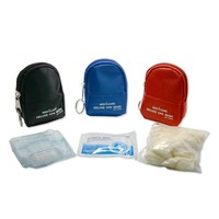 10 Pieces CPR Rescue Mask Keychain First Aid Kits CPR One-way Valve Mask Swabs And Gloves For CPR First Aid Training