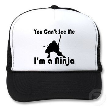 You Can't See Me funny Trucker Hat from Zazzle.com