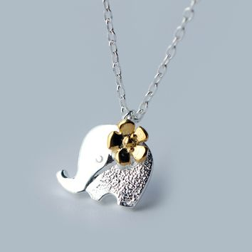 Lovely small elephant 925 sterling silver necklace, a perfect gift
