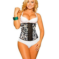 Waist Sexy Shaper Body Summer Leopard High Rise Latex Slim Palace Corset [4965383748]