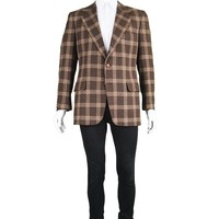 Brown Checked Camel Hair Blazer, 1970s