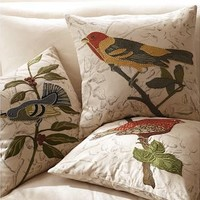 Bird Embroidered Pillow Covers | Pottery Barn