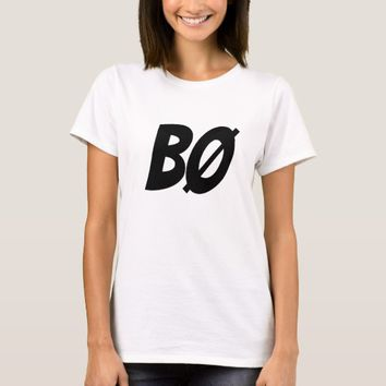 BOO, in Norwegian, BØ T-Shirt