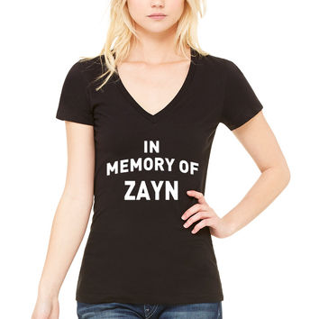 """One Direction """"In Memory of Zayn"""" V-Neck T-Shirt"""