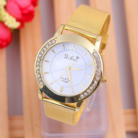 2015 New Classic Watch Women's Wrist Quartz Dress Watch Gold (Size: 2) = 1705916932