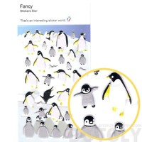 King Penguin Shaped Animal Themed Puffy Stickers for Decorating