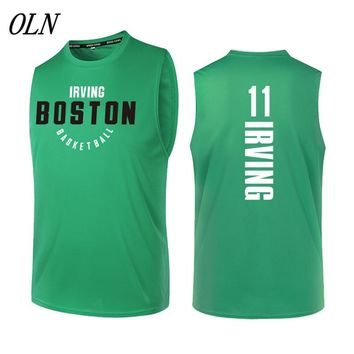 OLN New Basketball Jersey 11 Kyrie Irving Printing Jersey Uniforms Sports Breathable Basketball Shirts For Men