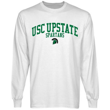 USC Upstate Spartans Team Arch Long Sleeve T-Shirt - White