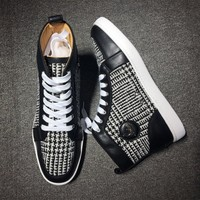 Cl Christian Louboutin Mid Style #2126 Sneakers Fashion Shoes