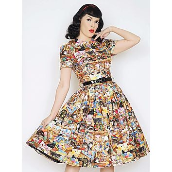 Darlene Dress in Crazy Cat Lady